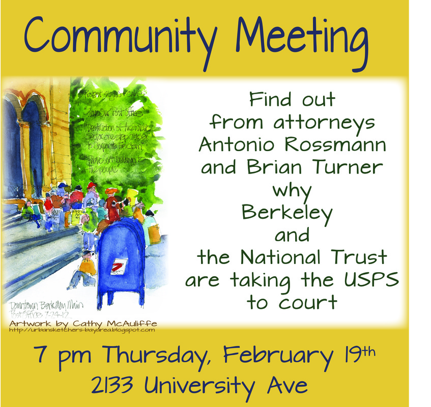 Community Meeting re Berkeley Post Office Sale, Report on Lawsuit, etc @ Bonnie's Art Space | Berkeley | California | United States